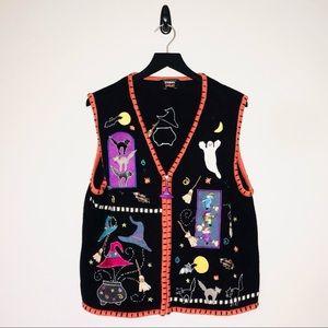 Designers Originals Halloween Sweater Vest Zip Up